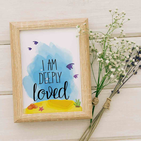 I Am Deeply Loved Nursery Room Printable Digital Wall Art - Shop Love God
