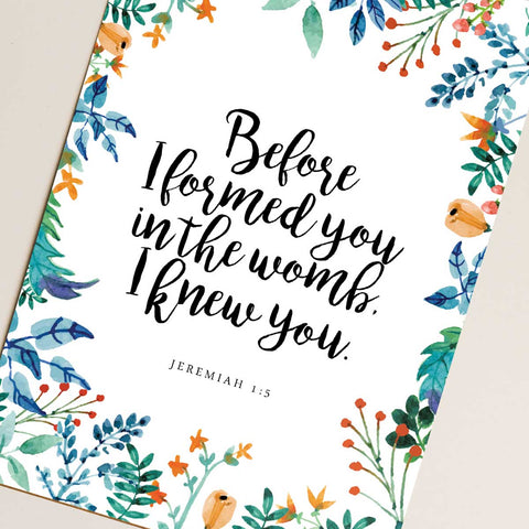 I Knew You Printable Digital Wall Art - Shop Love God
