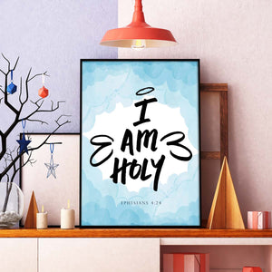 I Am Holy Printable Digital Wall Art - Shop Love God