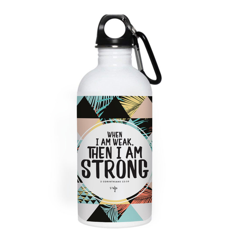 I Am Strong 20 oz. Stainless Steel Water Bottle - Shop Love God