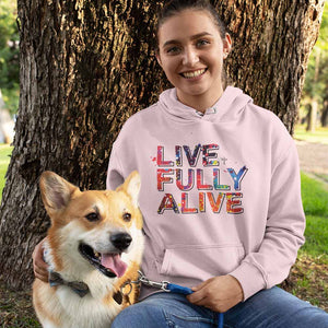 Live Fully Alive Unisex Heavy Blend™ Hooded Sweatshirt - Shop Love God