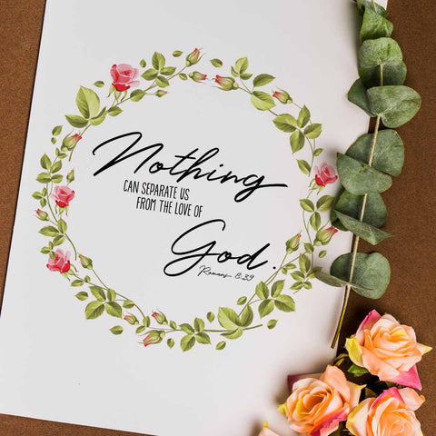 Nothing Can Separate Us Printable Digital Wall Art - Shop Love God