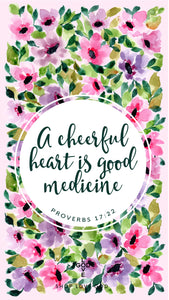 A Cheerful Heart Mobile Wallpaper - Shop Love God