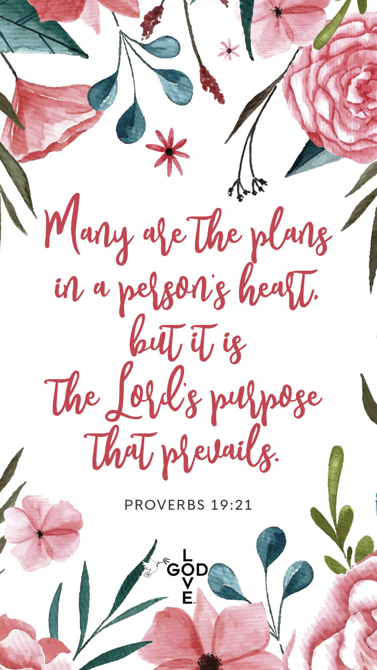 Many are the Plans Mobile Wallpaper - Shop Love God