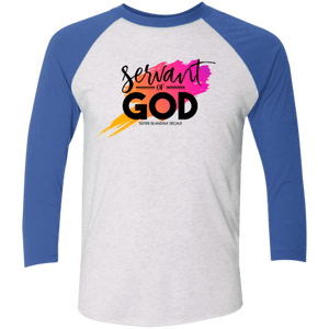 Servant of God Unisex 3/4 Sleeve Baseball Raglan T-Shirt