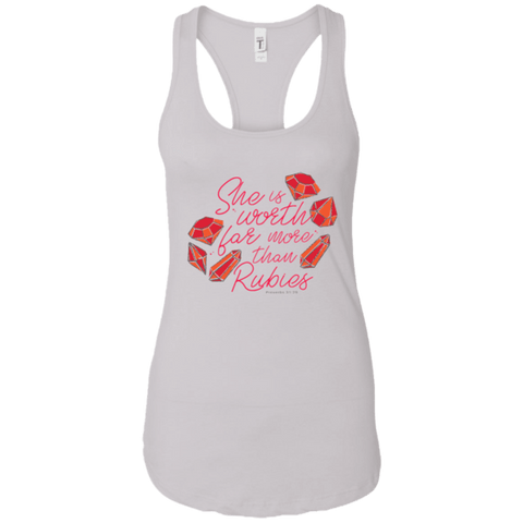 She Is Worth Far More Than Rubies Ideal Racerback Tank