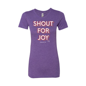 Shout For Joy Ladies' Triblend T-Shirt