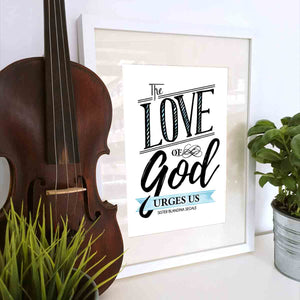 The Love of God Urges Us Printable Digital Wall Art - Shop Love God