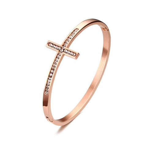 Sideways Cross Women's Bracelet - Shop Love God