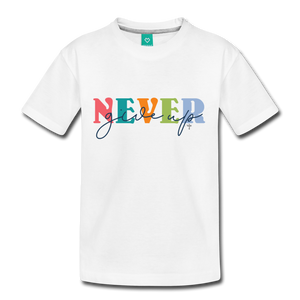 Never Give Up II Kids' Premium T-Shirt - Shop Love God