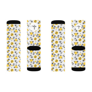 Yellow Flowers Sublimation Socks - Shop Love God