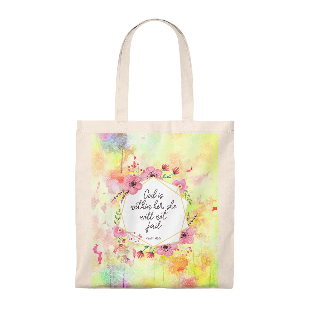 God Is Within Her, She Will Not Fail Vintage Tote Bag