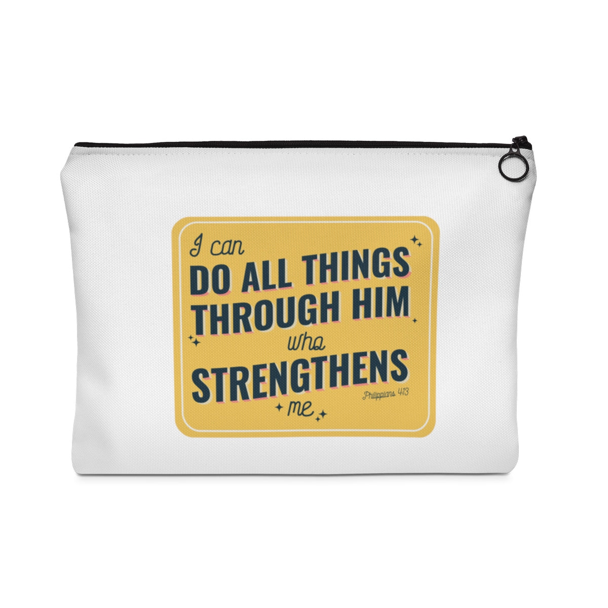 Do All Things Through Him Who Strengthens Carry All Pouch - Flat - Shop Love God