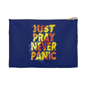 Just Never Panic Accessory Pouch - Shop Love God