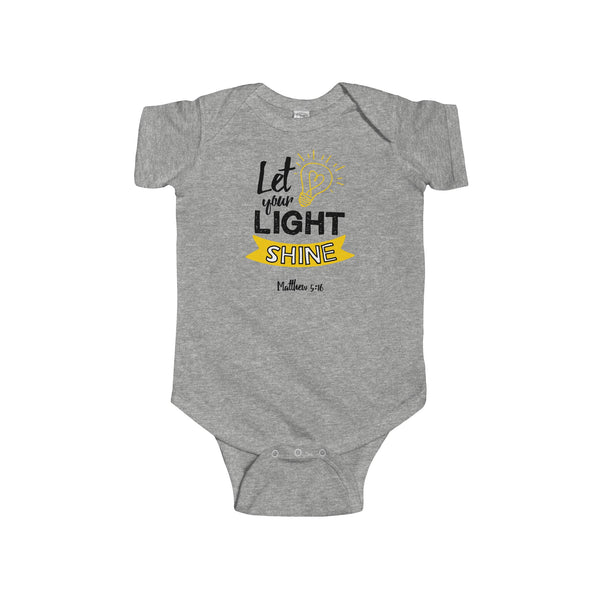 Let Your Light Shine Infant Jersey Onesie - Shop Love God