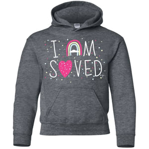 I Am Saved Youth Pullover Hoodie - Shop Love God