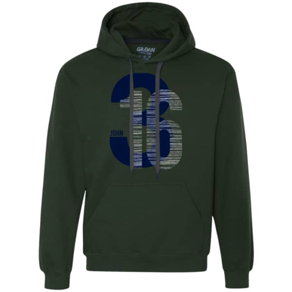 John 3:16 Heavyweight Pullover Fleece Hoodie - Shop Love God