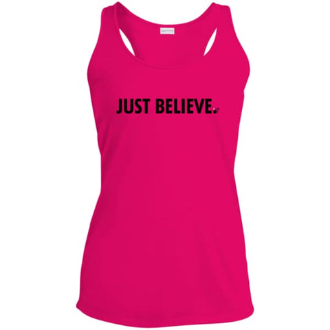 Just Believe Ladies' Racerback Moisture Wicking Tank - Shop Love God