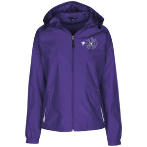 Love God Ladies' Jersey-Lined Hooded Windbreaker