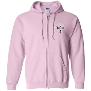 Love God Zip Up Hooded Sweatshirt