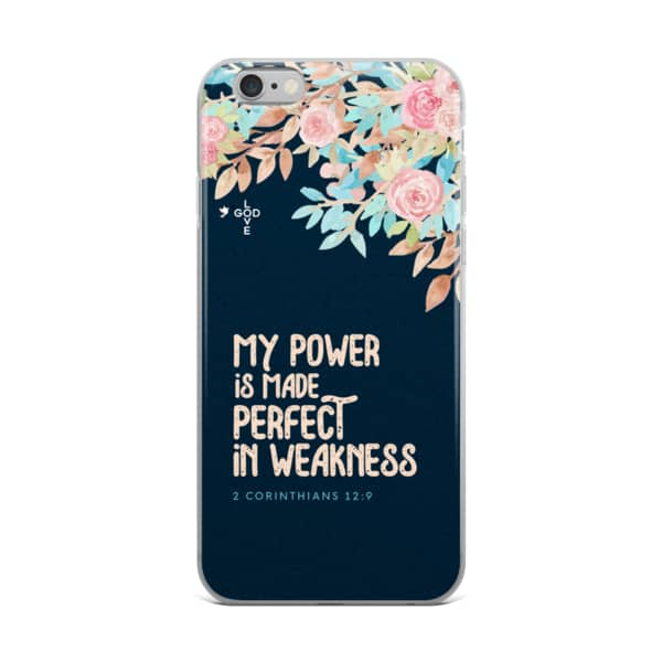 Made Perfect In Weakness iPhone Case - Shop Love God