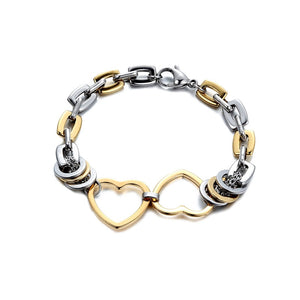 Gold And Silver Color Rope Chain Bracelet - Shop Love God