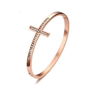 Sideways Cross Women's Bracelet
