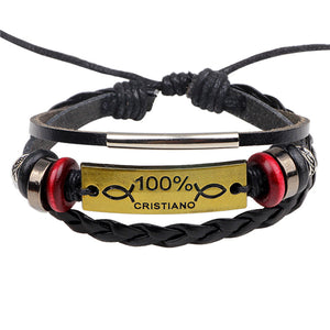 Handmade Jesus Leather Bracelet - Shop Love God
