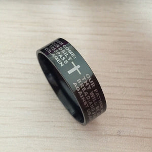 English Prayer Titanium Ring - Shop Love God