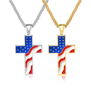 Colorful Flag Cross Necklace - Shop Love God