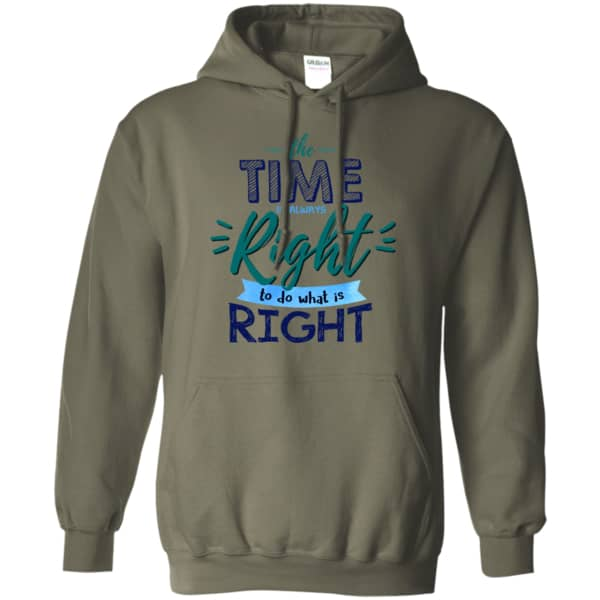The Time Is Always Right Pullover Hoodie 8 oz.