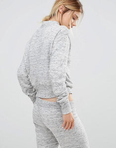 Neck Sweatshirt In Grey Marl