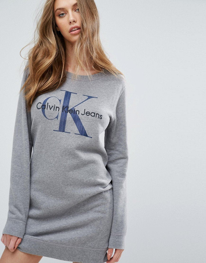 Calvin Klein Jeans Logo Sweatshirt Dress