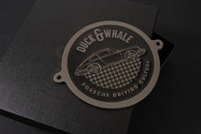 Black Nickel & Black - Porsche Driving Culture Grill Badge - NEW