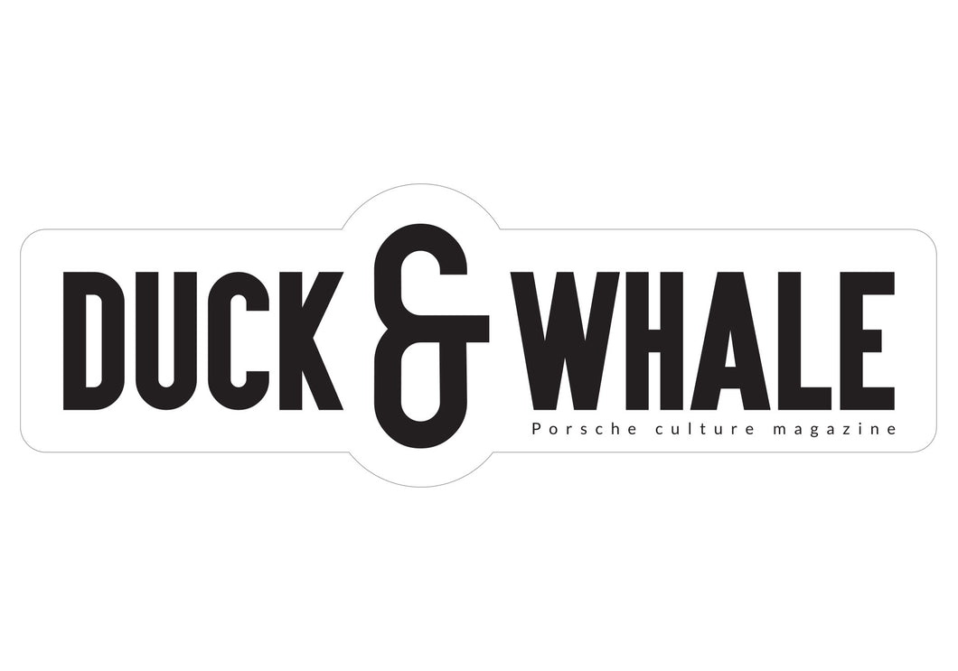 Duck & Whale Sticker Logo