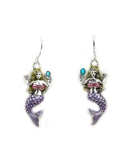 Colored Mermaid Earrings