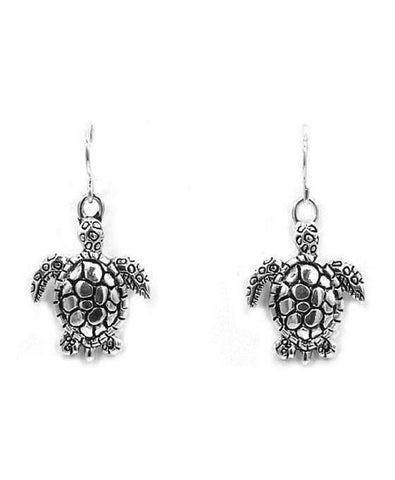 Sea Turtle Silver Earrings