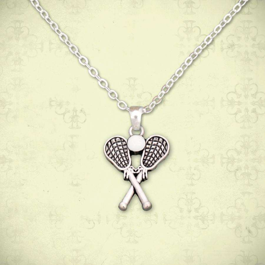 Petite Lacrosse Necklace,Necklaces