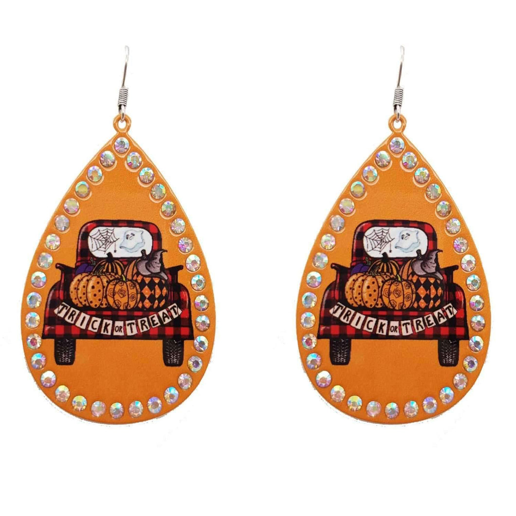 Trick or Treat Tin Earrings,Live Show