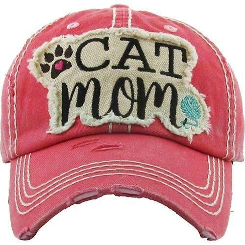 Cat Mom Vintage Cap,Caps