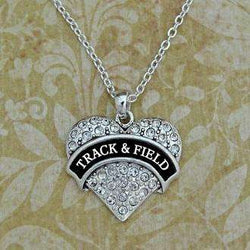 Track and Field Heart Shape Necklace