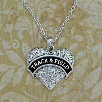 Track and Field Heart Shape Necklace,Necklaces