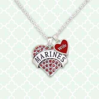 Marine Wife Heart Necklace,Necklaces