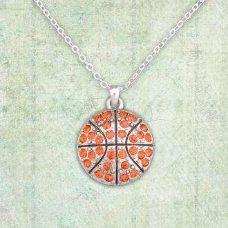 Basketball Rhinestone Necklace