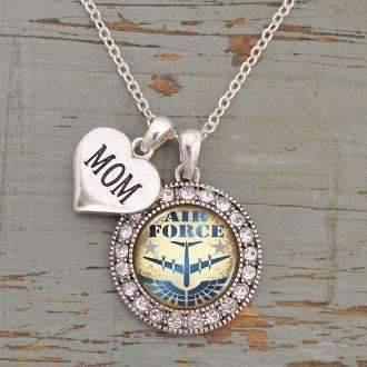 Air Force Mom Circle Necklace