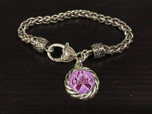 Load image into Gallery viewer, Crohn's Disease Awareness Charm Bracelet