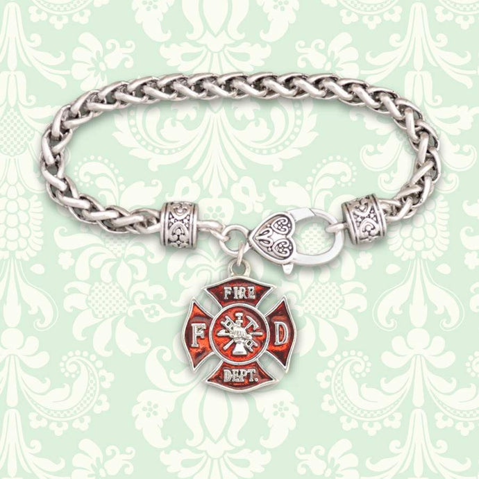 Fire Department Maltese Charm Bracelet,Bracelets
