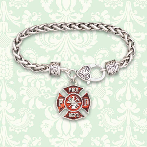 Fire Department Maltese Charm Bracelet