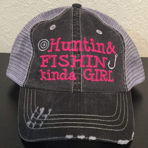 Huntin & Fishin Kinda Girl Trucker Cap