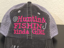 Load image into Gallery viewer, Huntin & Fishin Kinda Girl Trucker Cap